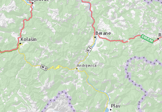 Kaart Plattegrond Trepča