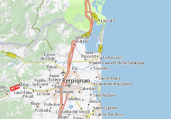 Karte Stadtplan Saint-Hippolyte