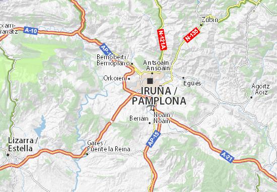Kaart Plattegrond Barañain