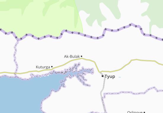 Mapa Plano Ak-Bulak