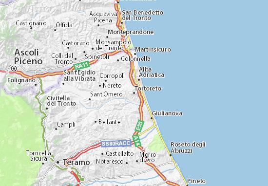 Cartina Italia Termoli.Mappa Tortoreto Cartina Tortoreto Viamichelin