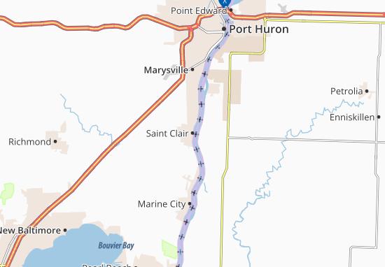 Karte Stadtplan Saint Clair