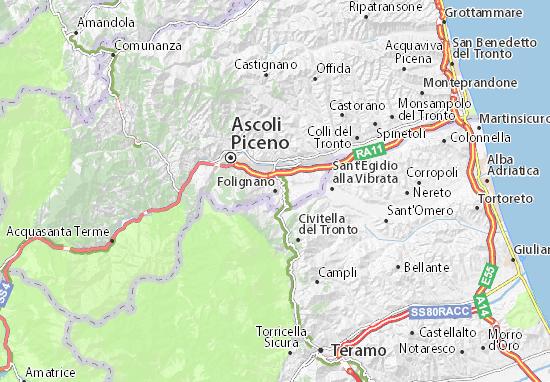Folignano Map