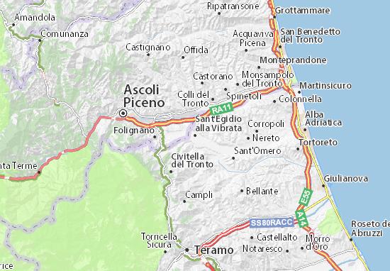 Karte Stadtplan Sant'Egidio alla Vibrata