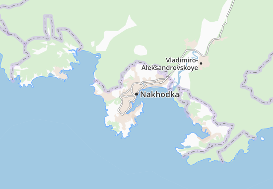 Map Of Nakhodka Michelin Nakhodka Map ViaMichelin - Nakhodka map
