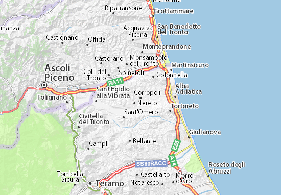 Corropoli Map