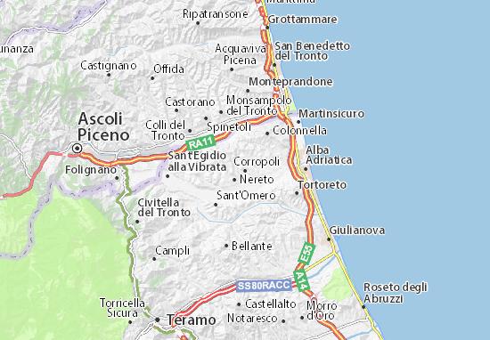 Karte Stadtplan Corropoli