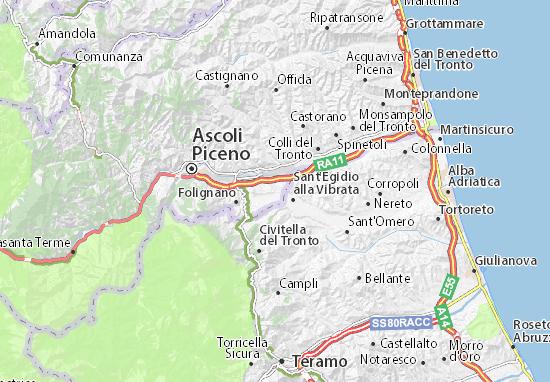 Karte Stadtplan Maltignano