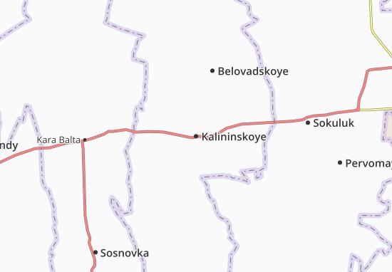 Mapa Plano Kalininskoye