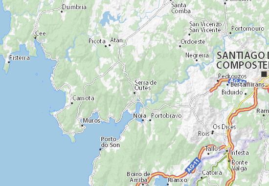 Serra de Outes Map