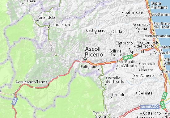 Karte Stadtplan Ascoli Piceno