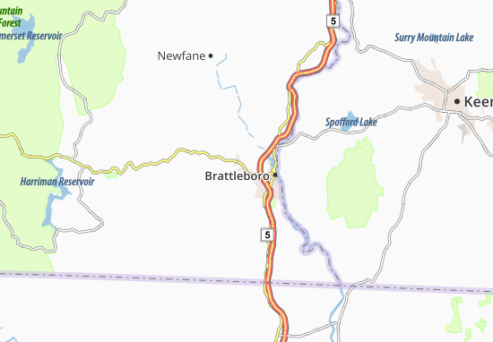West Brattleboro Map