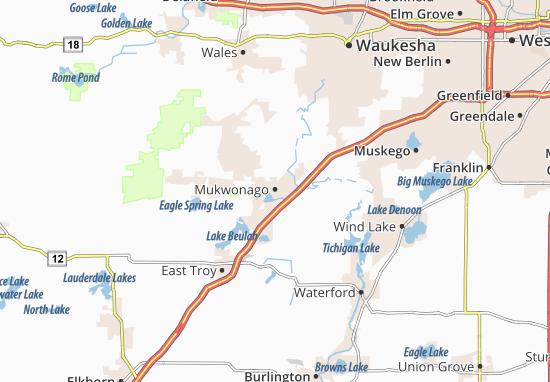 Mukwonago Map