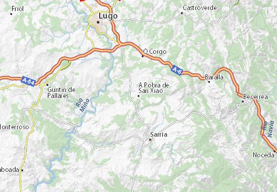 A Pobra de San Xiao Map