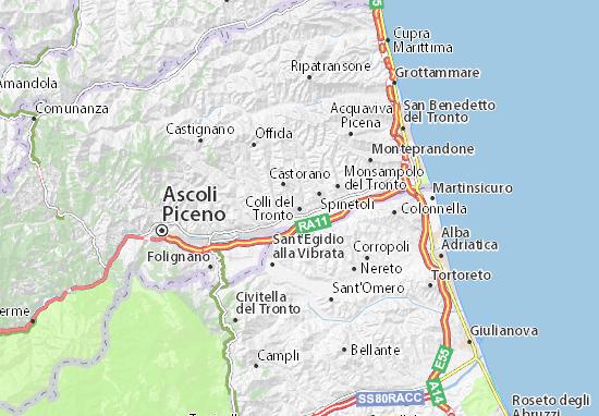 Colli Di Roma Cartina.Mappa Colli Del Tronto Cartina Colli Del Tronto Viamichelin