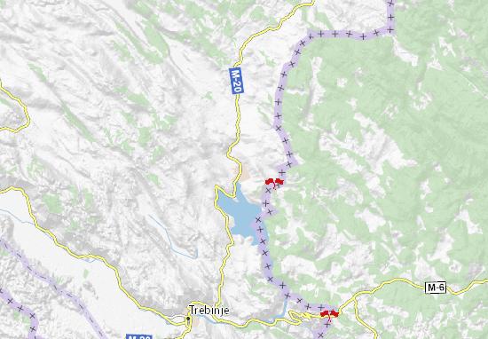 Kaart Plattegrond Bileća