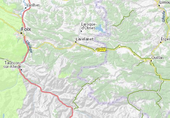 Detailed map of Fougax-et-Barrineuf - Fougax-et-Barrineuf ... on