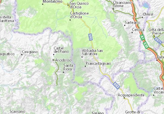 Carte-Plan Abbadia San Salvatore