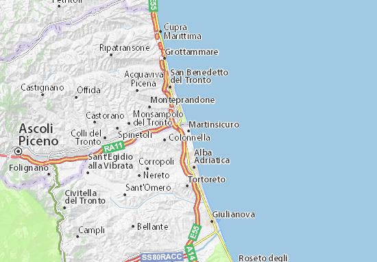 Karte Stadtplan Martinsicuro