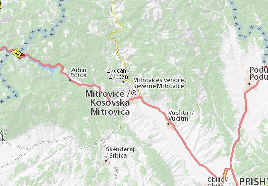 Mapa Kosovska Mitrovica