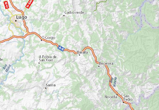Baralla Map