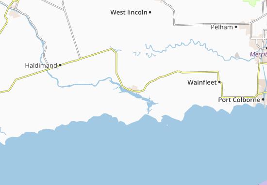 Kaart Plattegrond Dunnville