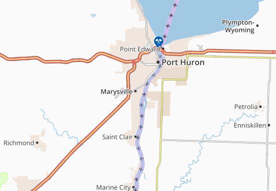 Karte Stadtplan Marysville