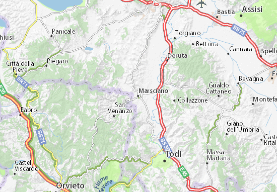 Karte Stadtplan Marsciano