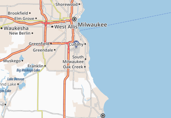 South Milwaukee Map: Detailed maps for the city of South Milwaukee ...