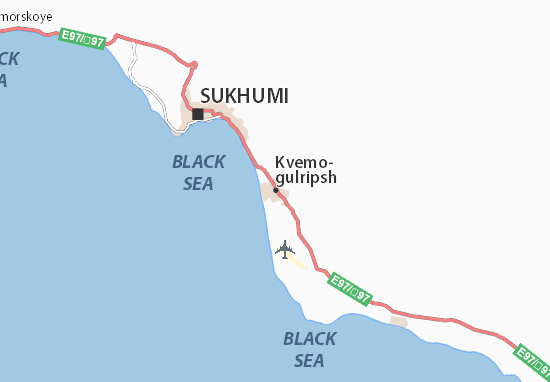 Mapa Plano Kvemo-gulripsh
