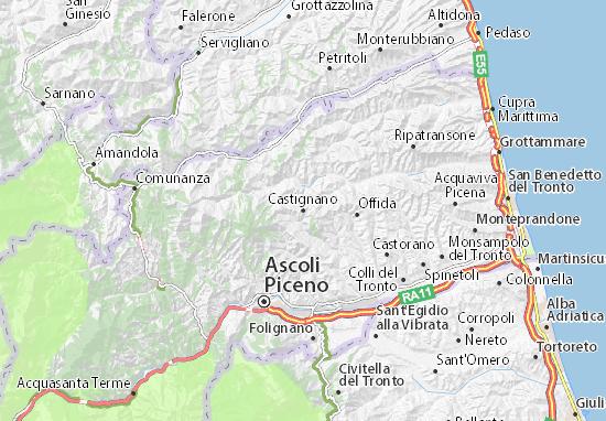 Castignano Map