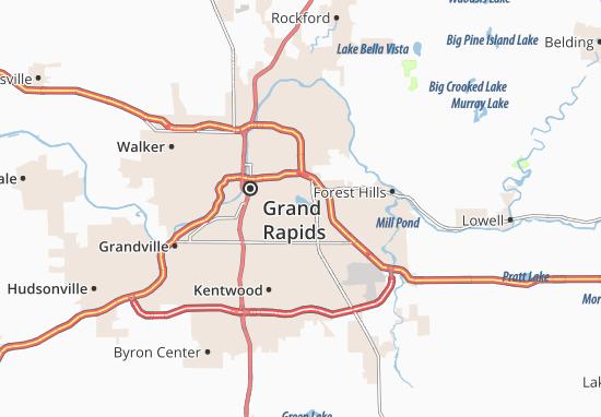 East Grand Rapids Map