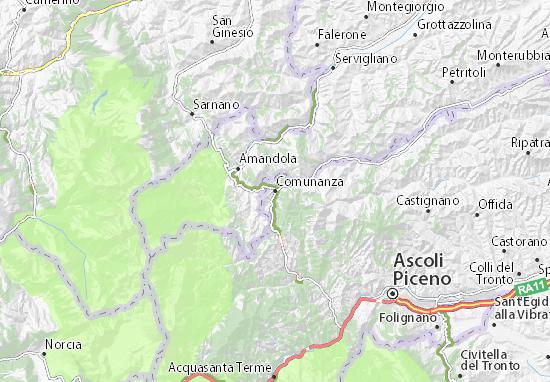 Comunanza Map