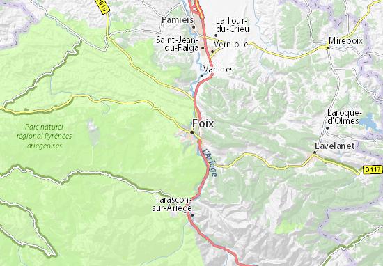Carte-Plan Foix