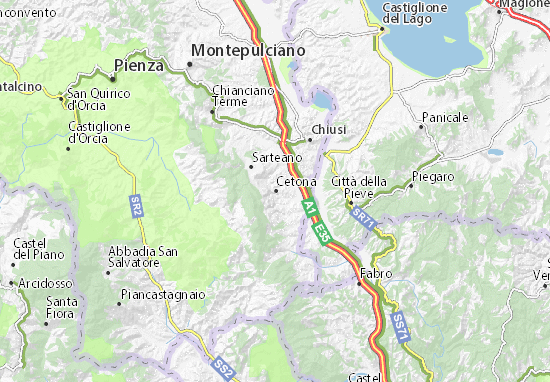 Carte-Plan Cetona