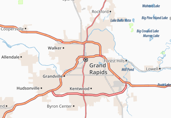 Carte-Plan Grand Rapids