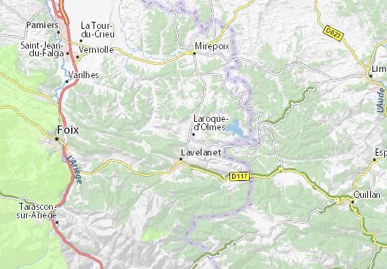 Laroque-d'Olmes Map