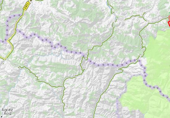 Mapas-Planos Puerto de Larrau
