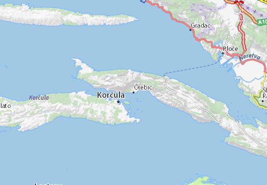 Kaart Plattegrond Orebić