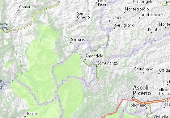 Amandola Map