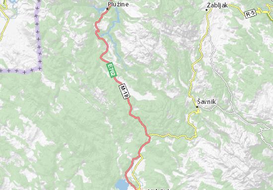 Kaart Plattegrond Donja Brezna