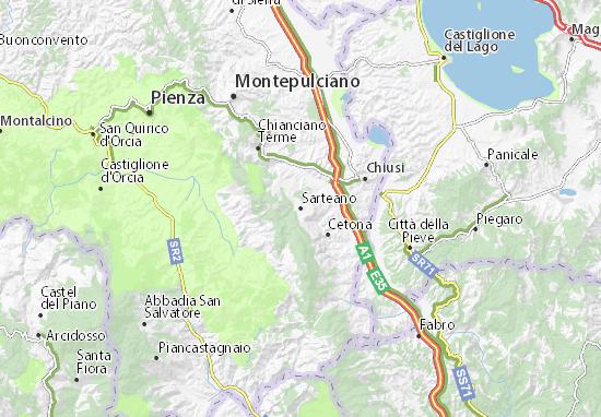 Kaart Plattegrond Sarteano