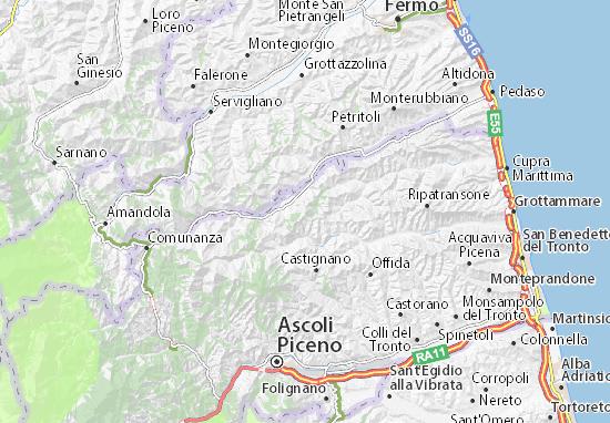 Cartina Geografica Delle Marche.Mappa Montalto Delle Marche Cartina Montalto Delle Marche
