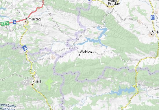 Kaart Plattegrond Vărbica