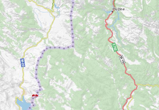 Krstac Map