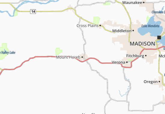 Mount Horeb Map