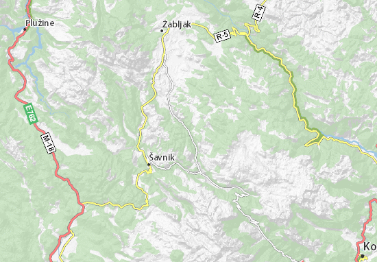 Mapa Plano Donja Bukovica