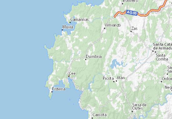 Dumbría Map
