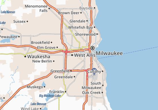 West Milwaukee Map