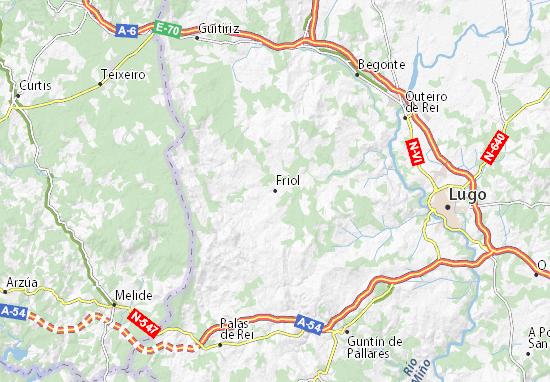 Friol Map